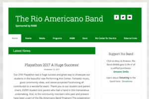 Rioband.net home page screen grab