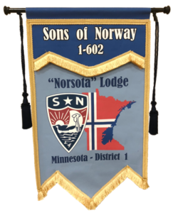 """Sons of Norway """"Norsota"""" Lodge Flag"""