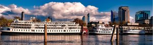 Sacramento River with Paddle Wheel Boat
